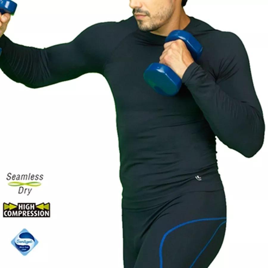 camiseta térmica masculina run manga longa lupo sports 70045. Carregando  zoom. e9a81fd1da1f4