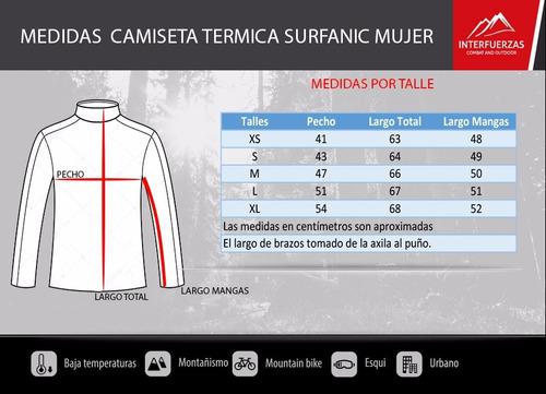 camiseta termica mujer surfanic carbon dri trekking run