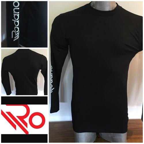 camiseta termica negra rodano original todos los talles