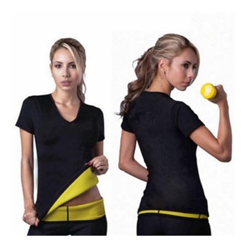 camiseta termica reductora neopreno sharpers moldea + obs