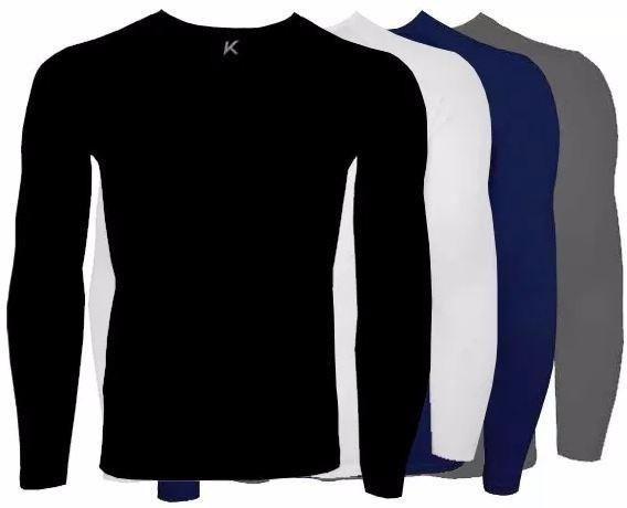 Camiseta Térmica Segunda Pele Kanxa Manga Longa - Poliamida - R  79 ... ef4e0908810e7