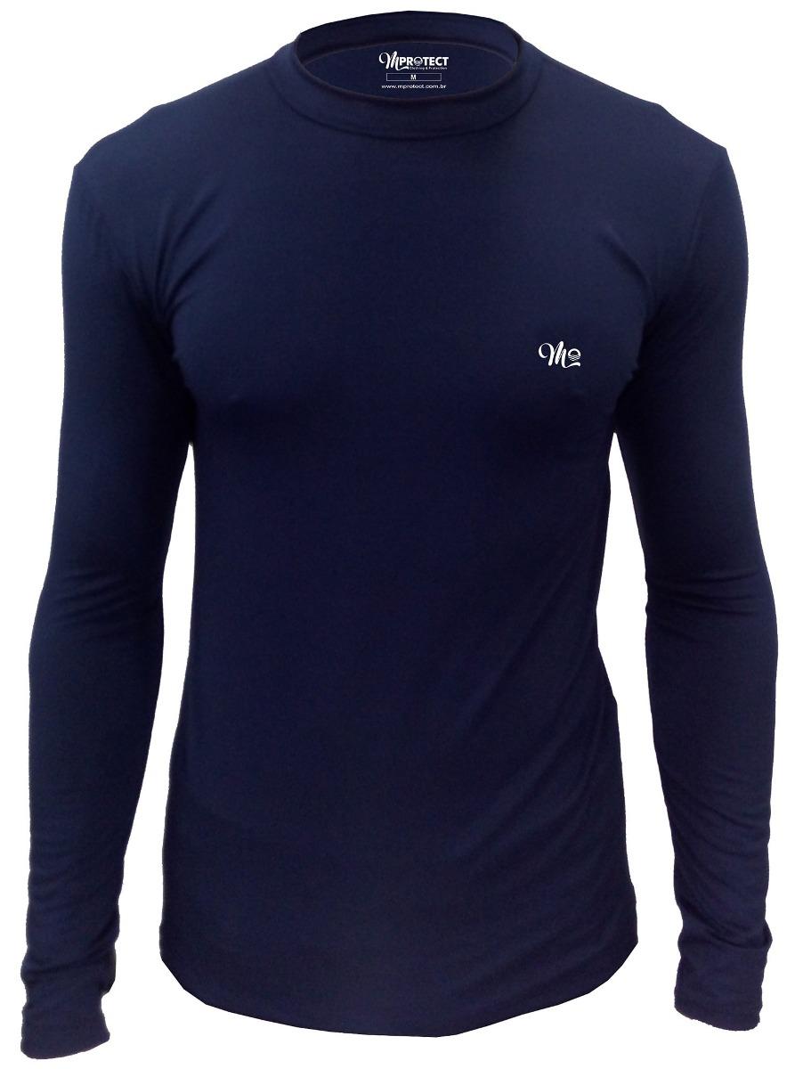 camiseta térmica segunda pele marinho masculina plus size. Carregando zoom. ec12c9a58db3e