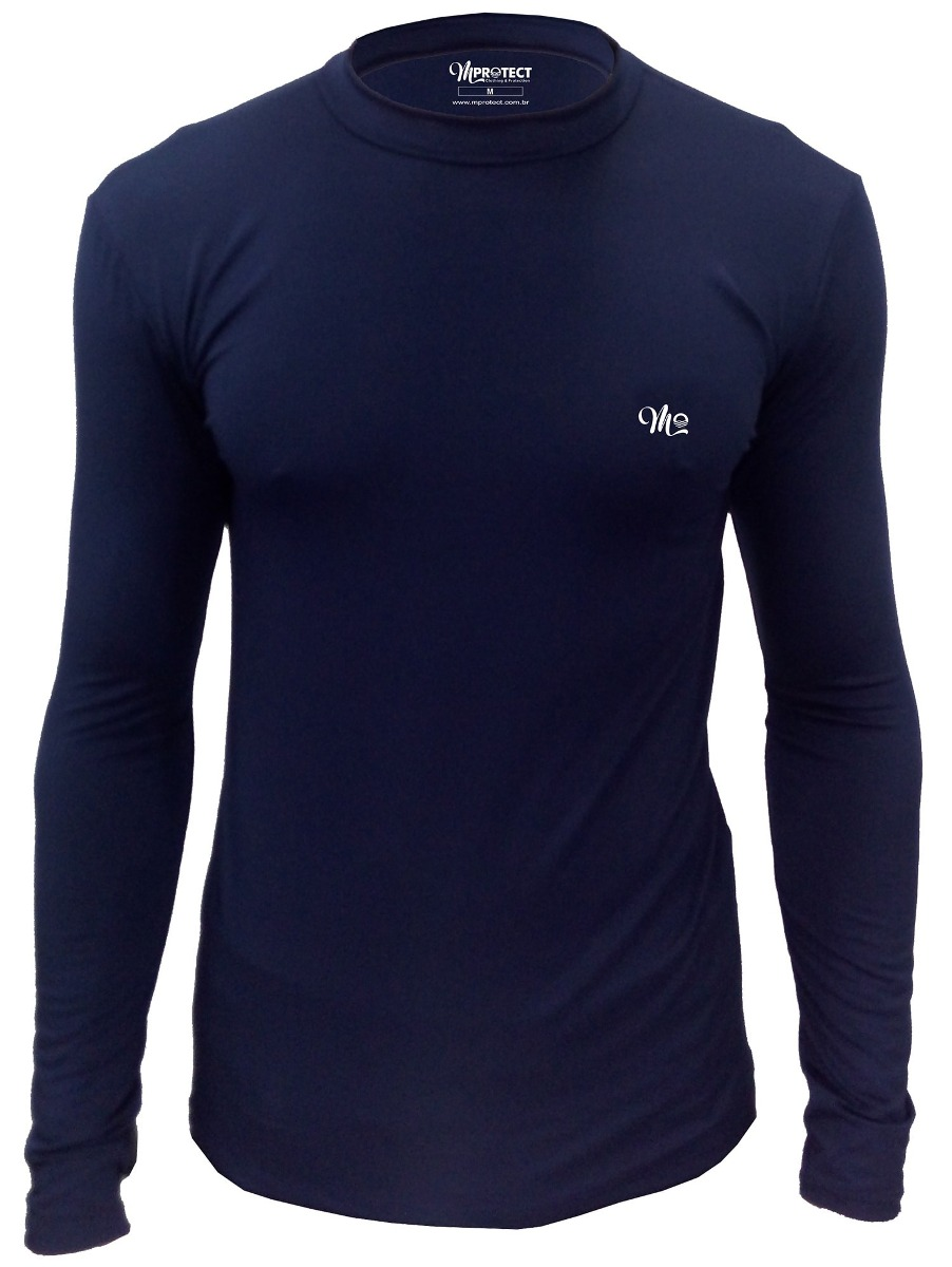 camiseta térmica segunda pele marinho masculina plus size. Carregando zoom. 796e07ac5f1ed