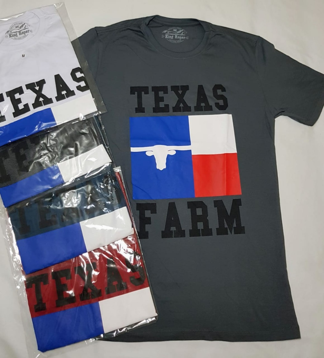 Camiseta texas farms king ranch farms country sertanejo carregando zoom jpg  1087x1200 King ranch farms d450394f1b5
