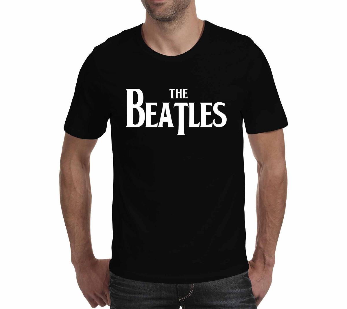 5c5bb64c0 Camiseta The Beatles 3 Preta - Rock Live - R  110