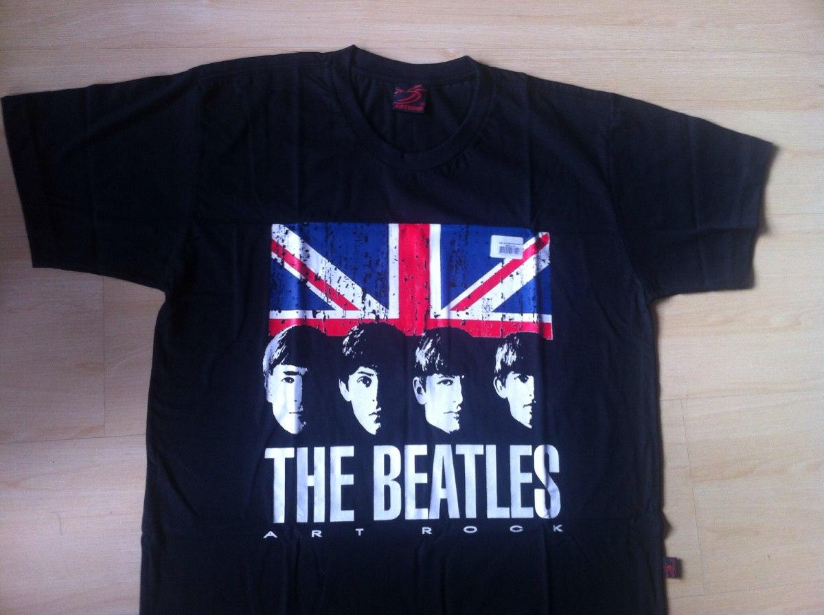 7770127a4 Camiseta The Beatles Bandeira Inglesa  Art Rock  Unissex  P - R  49 ...