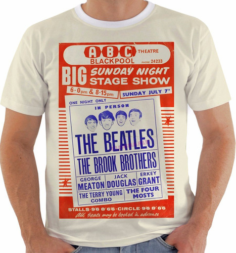 camiseta the beatles - concert poster - live blackpool