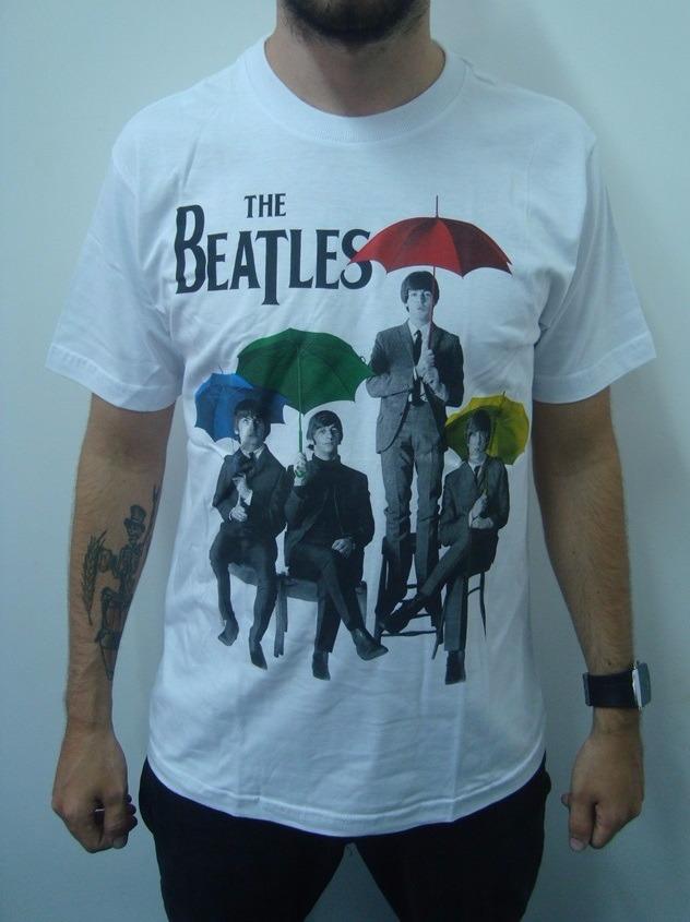 8a0846857 Camiseta The Beatles - Guarda Chuva Mod.02 - R  48