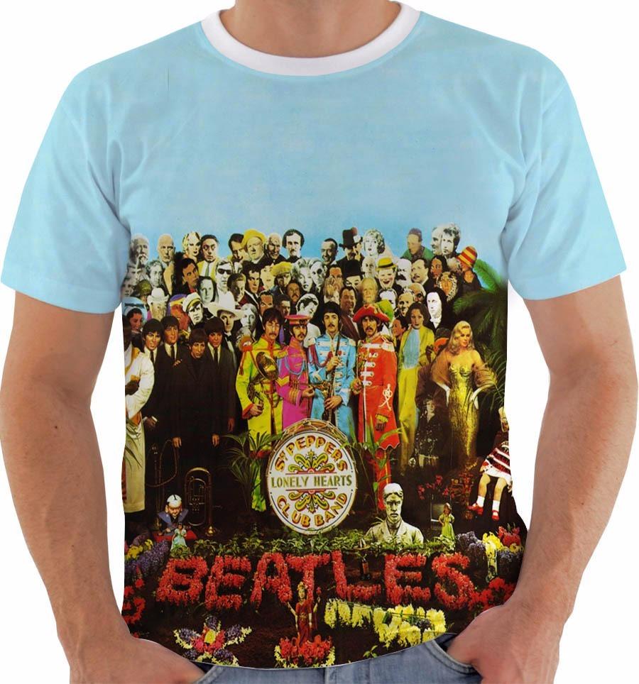 41b82b65b Camiseta The Beatles Sgt Pepper s Lonely Hearts Club - R  54