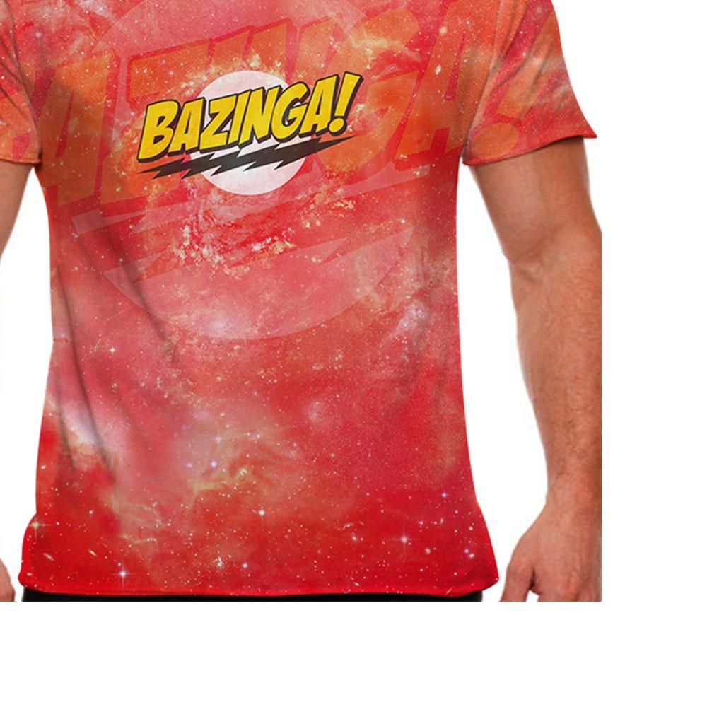 Camiseta The Big Bang Theory Bazinga Masculina - R  51 9f7fb6f7856