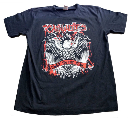 camiseta the casualties rock activity importada talla m
