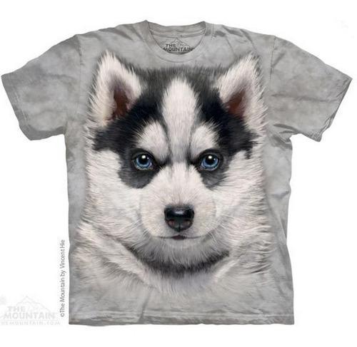 camiseta the mountain 100% algodão filhote husky - infantil