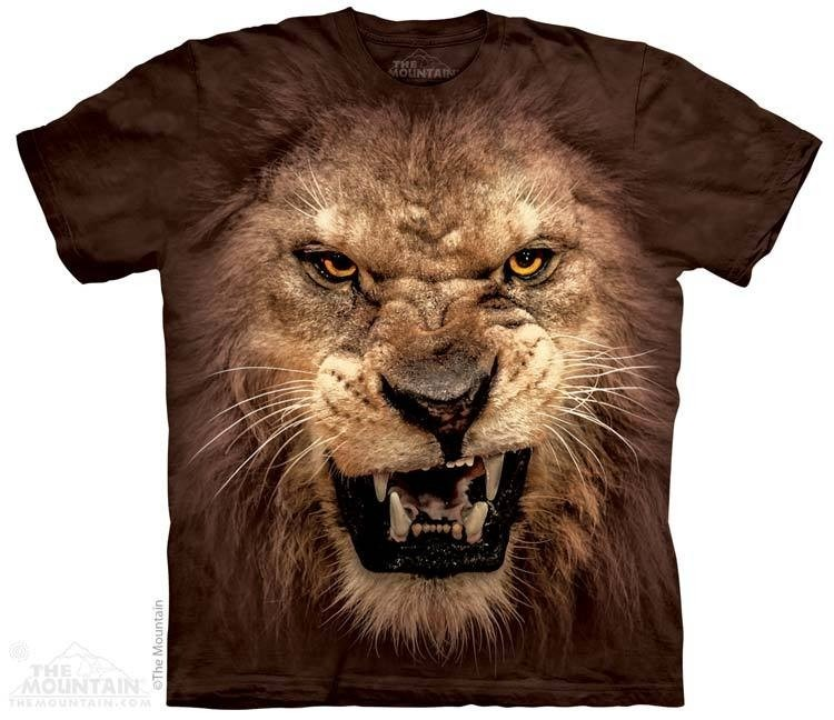 4dd73bf2c5 Camiseta The Mountain 3d - 100% Algodão - Leão Rosnando - R  94