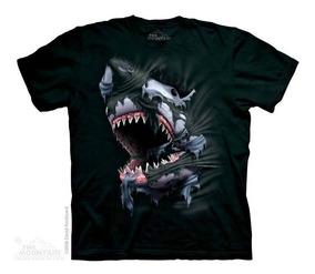 ab3851694a5963 Camiseta The Mountain 3d - 100% Algodão - Tubarão - Infantil