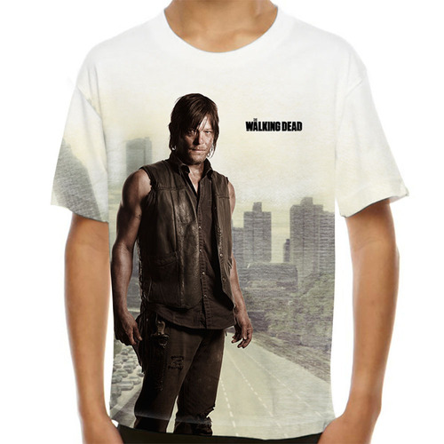 camiseta the walking dead daryl dixon 4 season infantil