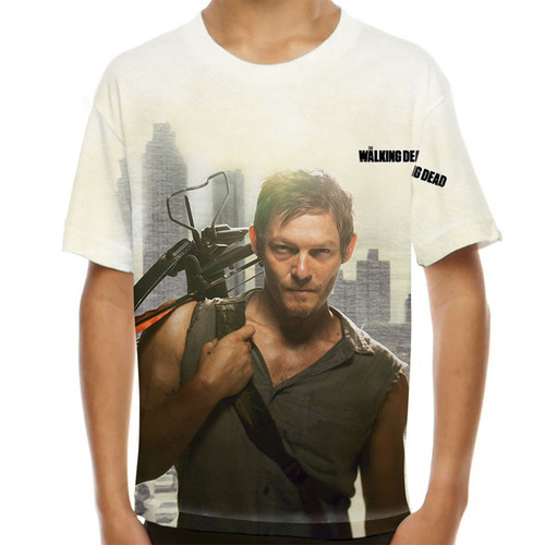 camiseta the walking dead daryl dixon infantil