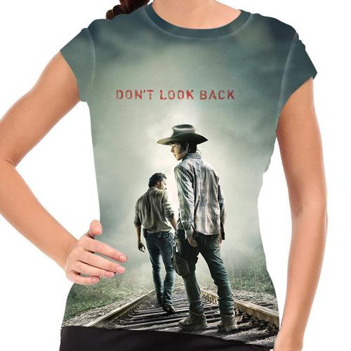 camiseta the walking dead don't look back baby look