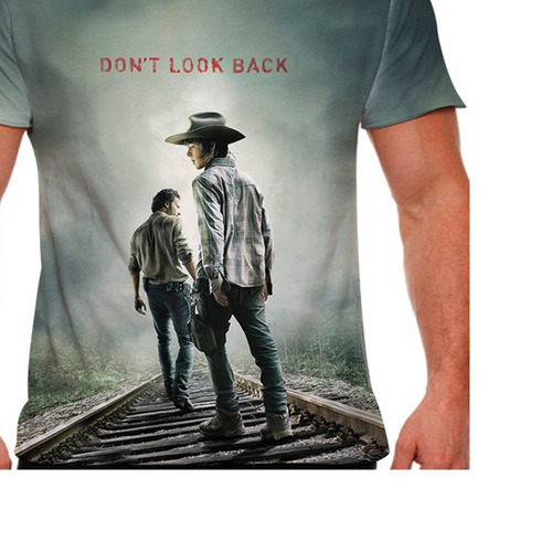 camiseta the walking dead don't look back masculina