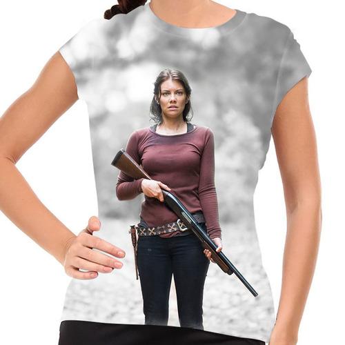 camiseta the walking dead maggie greene baby look