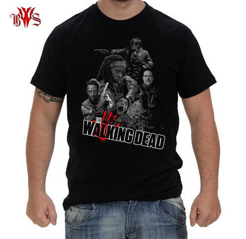 camiseta the walking dead rick michonne daryl dixon negan