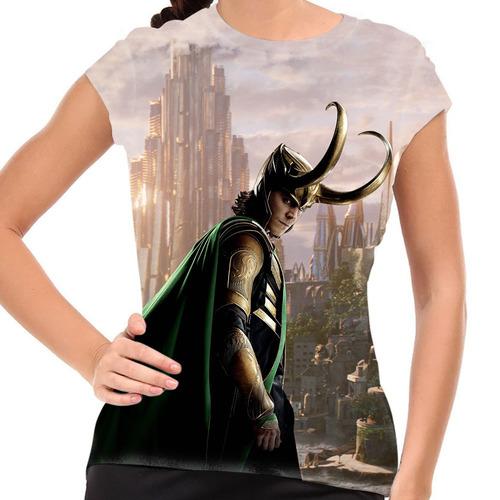 camiseta thor loki baby look