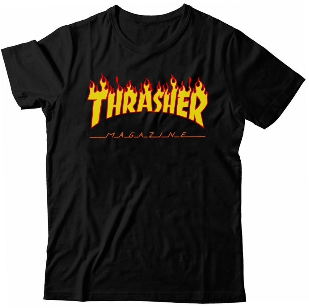 Camiseta Thrasher Flame Camisa Skate Board Tumblr + Brinde!! - R  41 ... 9e190bd7d63