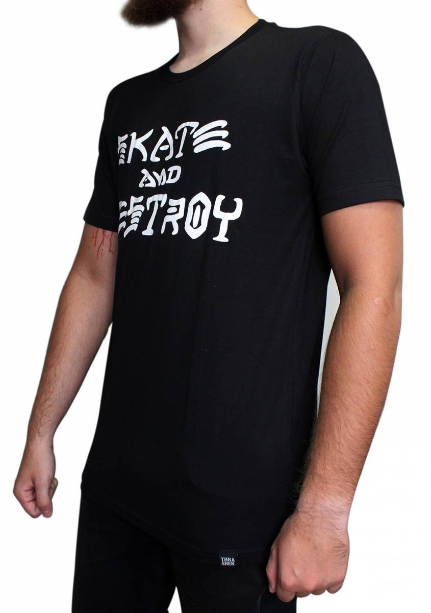 3b0c7e220 camiseta thrasher masculina skate and destroy preta original. Carregando  zoom.