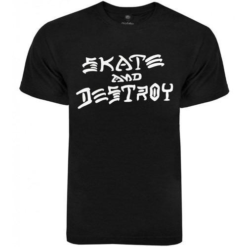 f32ca6586 Camiseta Thrasher Skate And Destroy Preta - Original - R  79