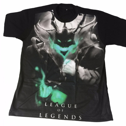 camiseta thresh league of legends + colar da amizade thresh