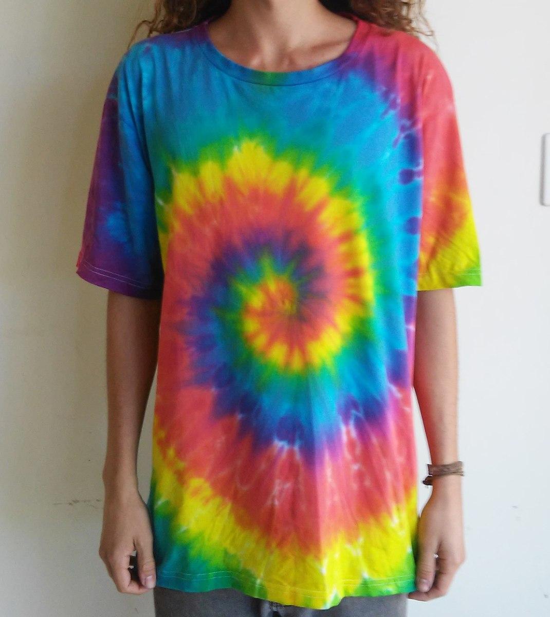Camiseta tie dye espiral psicodelica groovy arte exg r for Camisetas hippies caseras