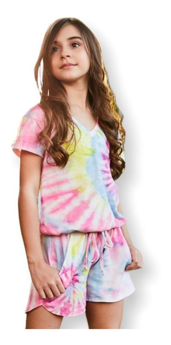 camiseta tie dye teen juvenil blogueira moda multicor