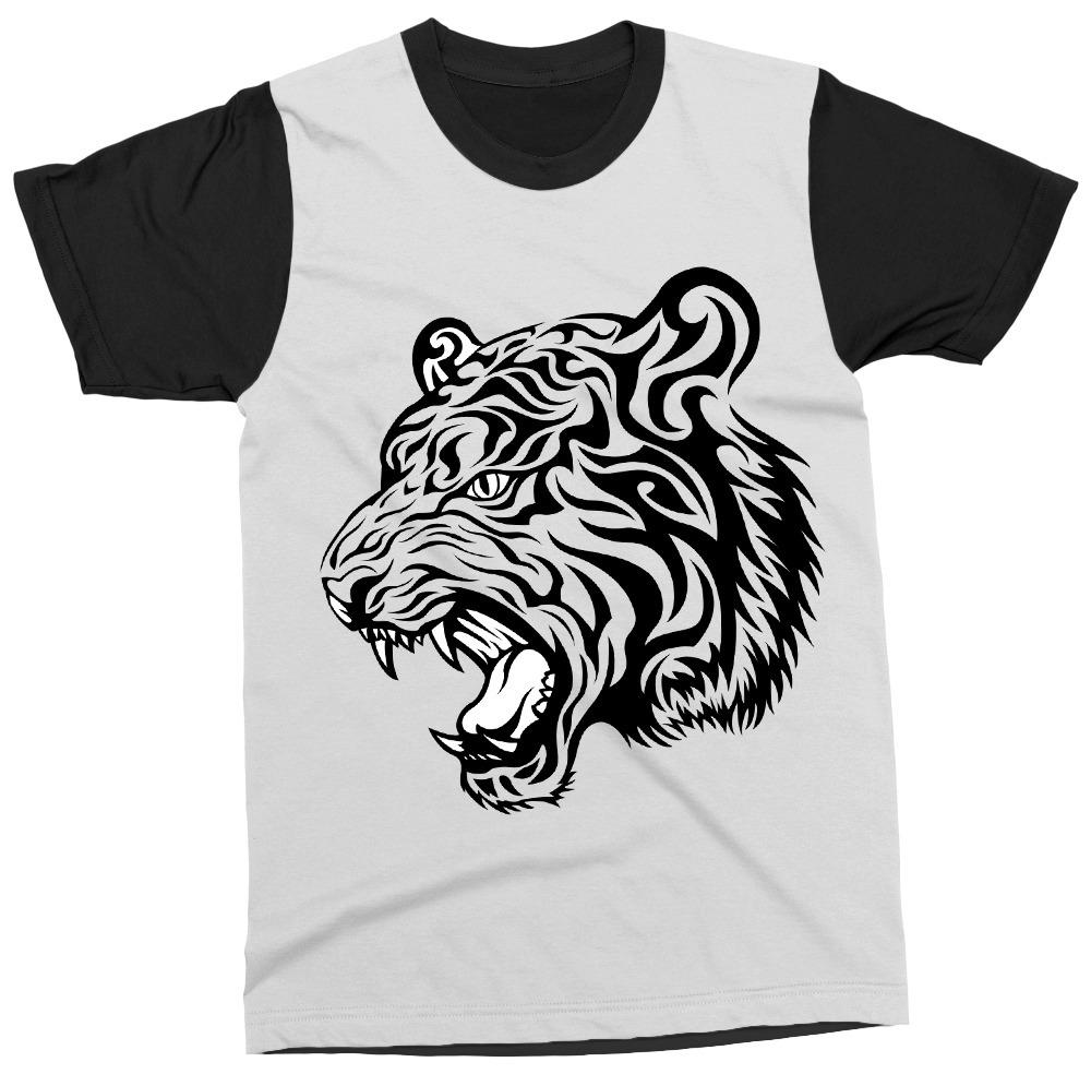 a881216ef0 camiseta tigre tattoo desenho estampa camisa masculina blusa. Carregando  zoom.
