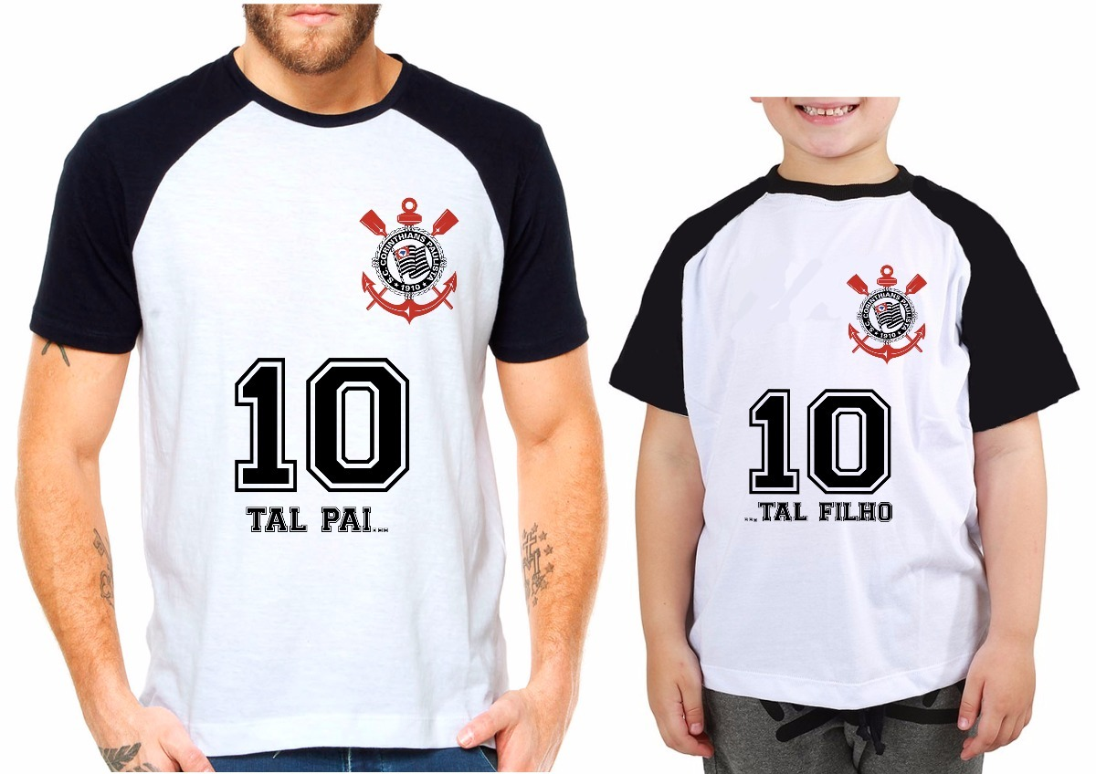 camiseta time futebol corinthians tal pai tal filho(a) kit. Carregando zoom. f668bdecec240