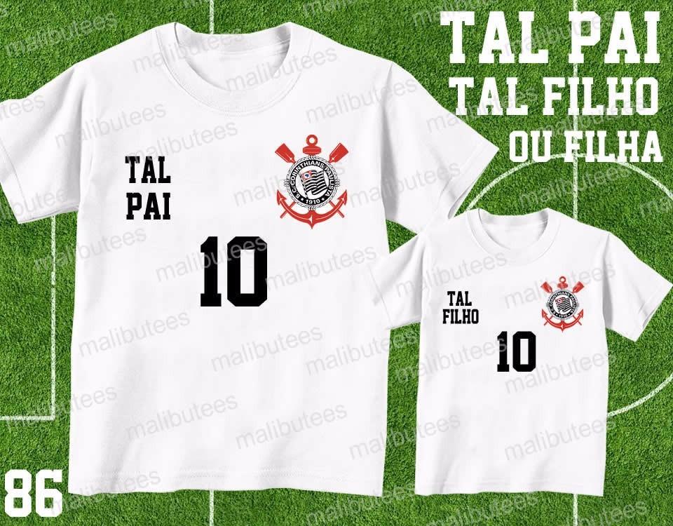 Camiseta Time Futebol Tal Pai Tal Filho(a) Kit Dia Dos Pais - R  59 ... d647d02f84303