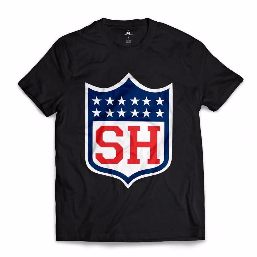 d8b9c0ace camiseta tipo nfl futebol americano super bowl preta sh eua. Carregando  zoom.