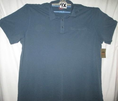 camiseta tipo polo azul acero talla 4x northwest p/ gordito