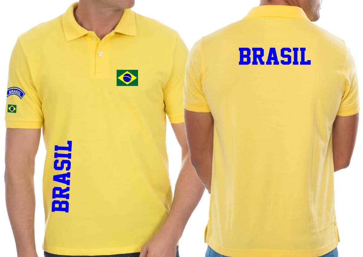 f9b7e2d795 camiseta tipo polo brasil países brasileira cidade. Carregando zoom.