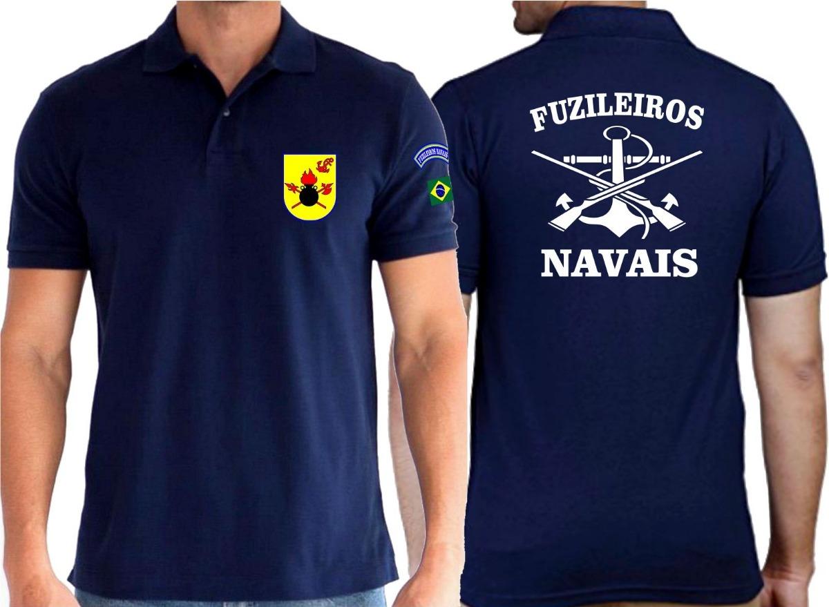 camiseta tipo polo fuzileiro naval marinha armas alusiva. Carregando zoom. e8f50b6d76ccc