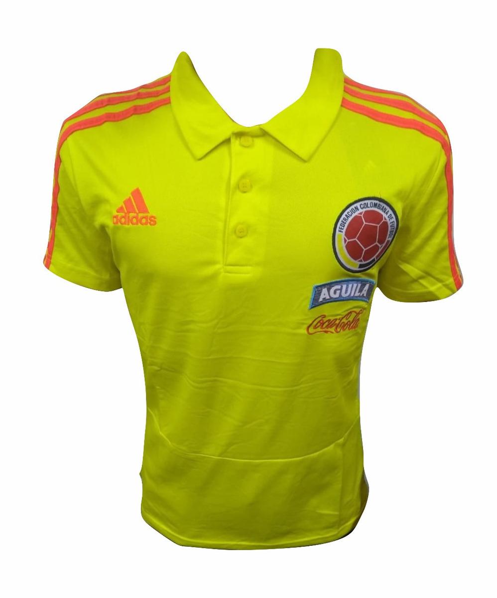 8f42594bc Camiseta Tipo Polo Seleccion Colombia Amarilla 2018 - $ 40.000 en ...