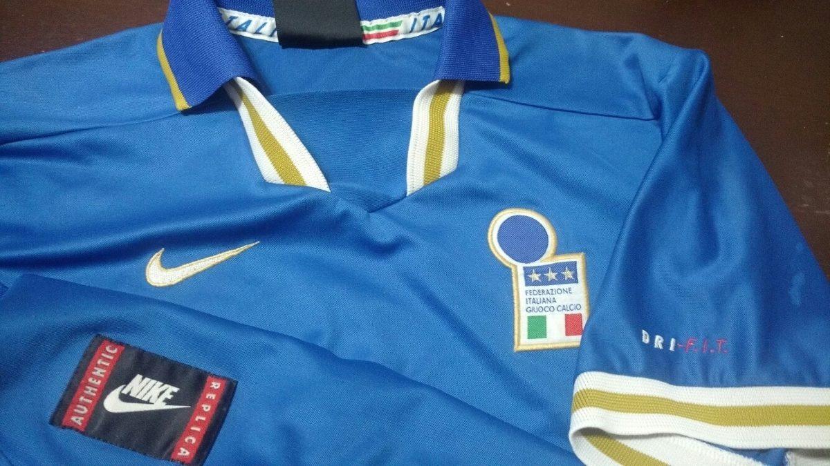 100Original Eurocopa Camiseta 1996 Titular Italia Nike nvNm0w8