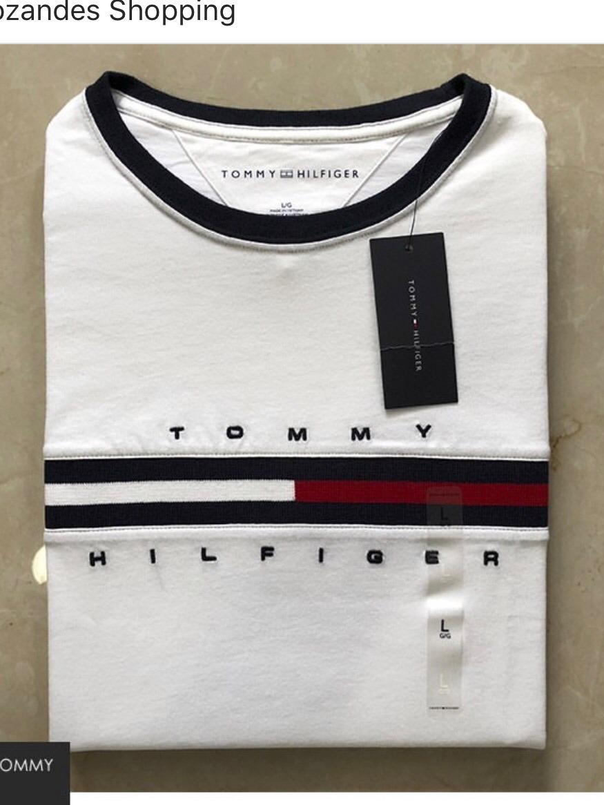 da5d44f07cf7c4 Camiseta Tommy Hilfiger - R$ 200,00 em Mercado Livre