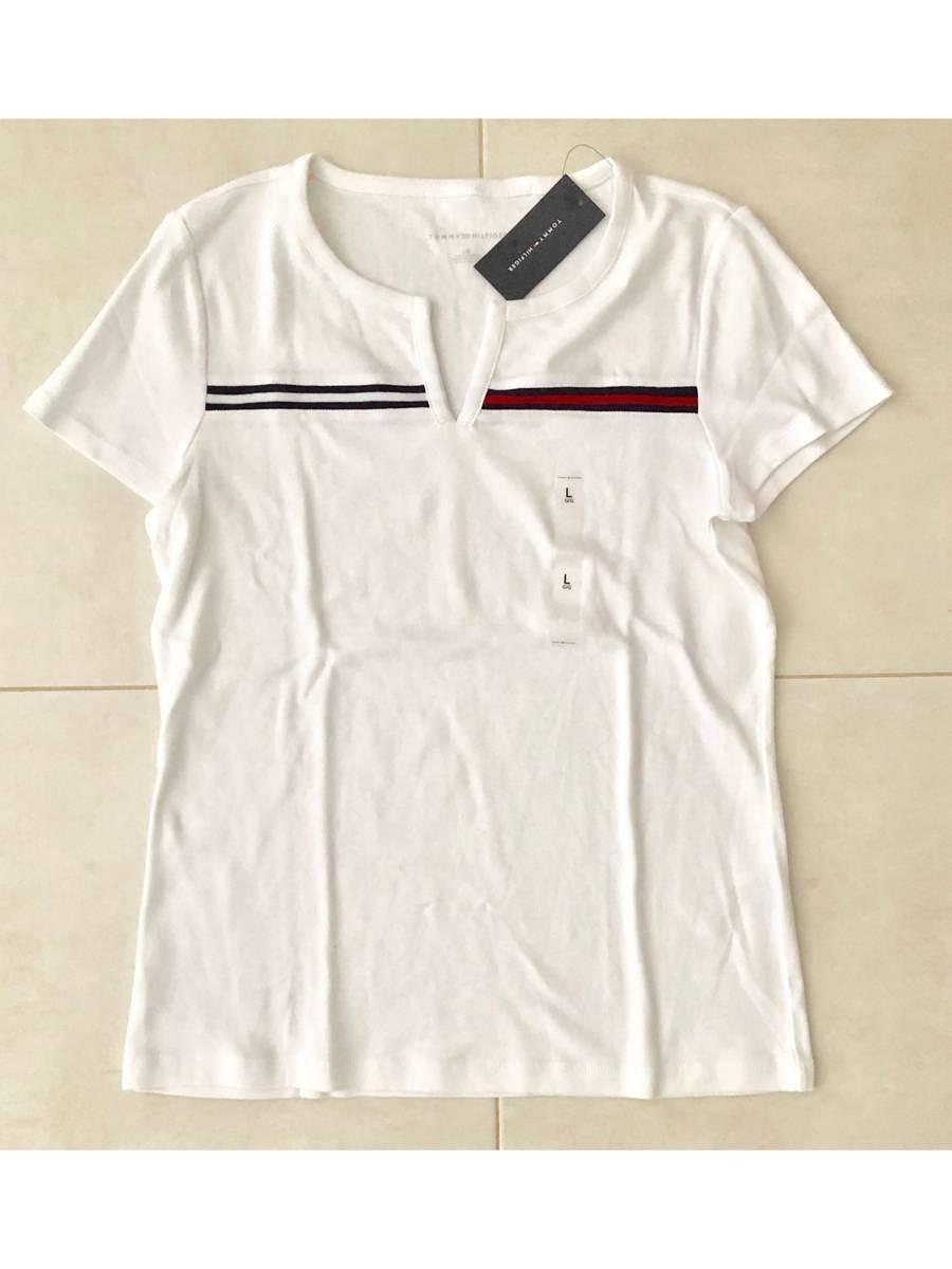 fbd675c94 camiseta tommy hilfiger feminina branca bordada original g. Carregando zoom.