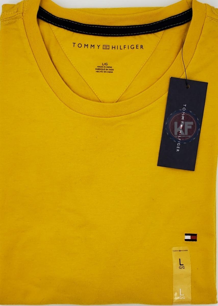 camiseta tommy hilfiger gola redonda masculina - original. Carregando zoom. ba57887efeb12