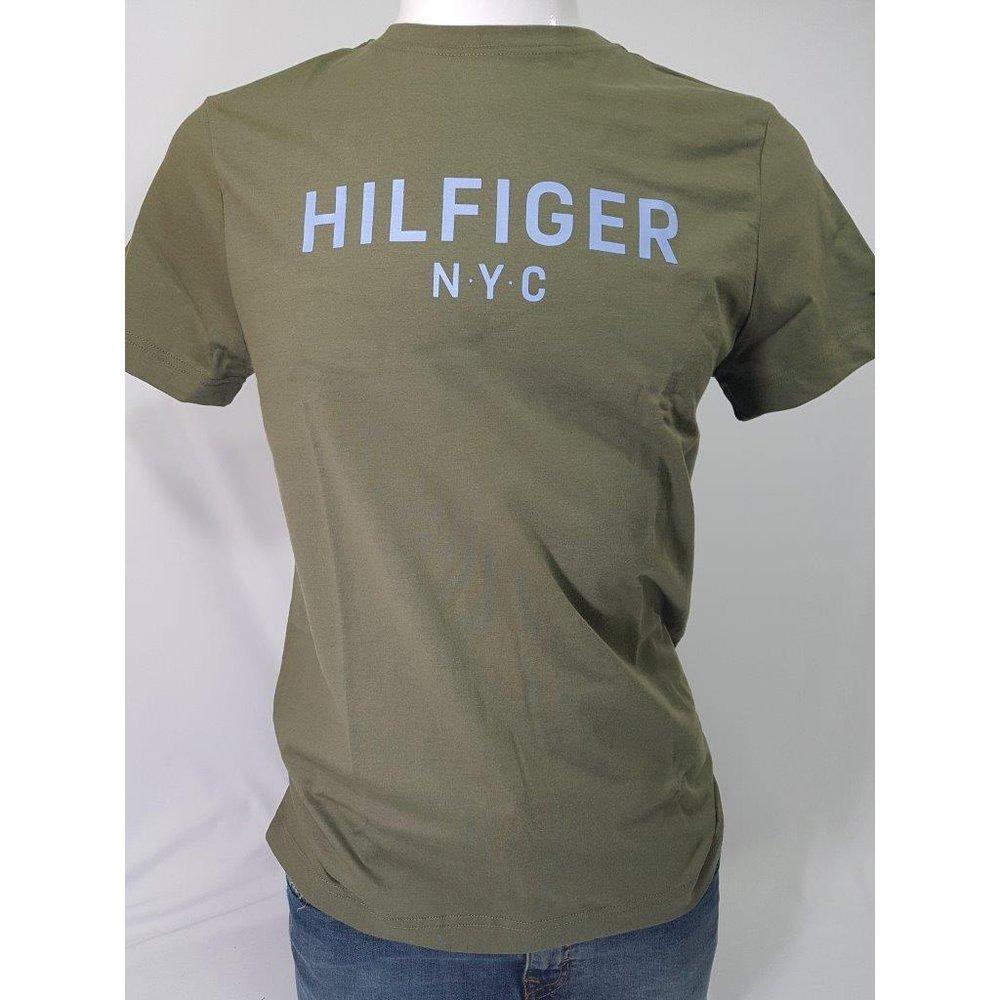 09e478cedfa camiseta tommy hilfiger graphic tee verde musgo. Carregando zoom.