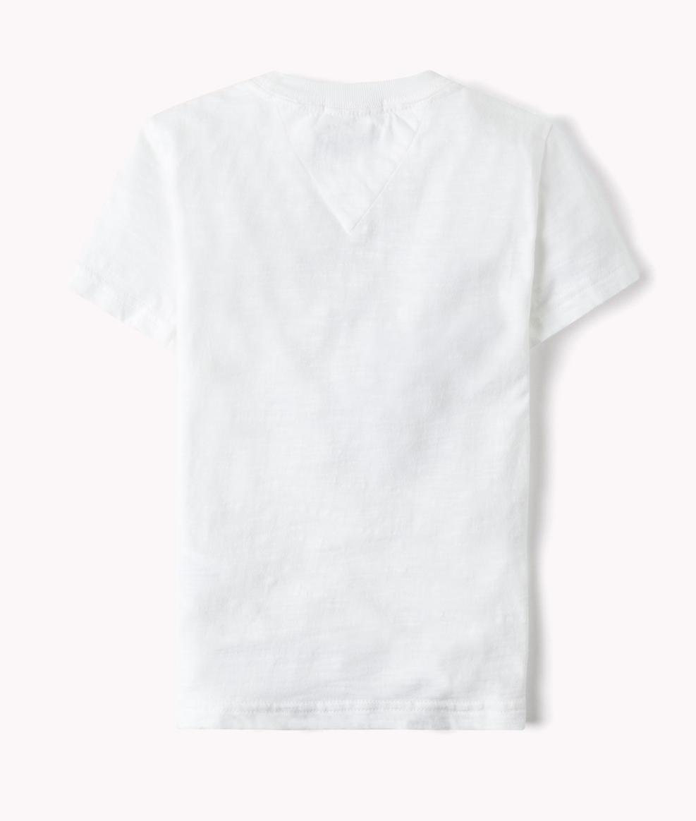 b6b77b134 camiseta tommy hilfiger infantil 1516 estampada branca. Carregando zoom.