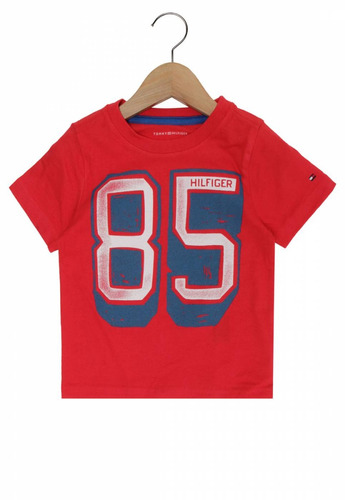 camiseta tommy hilfiger infantil 6994 vermelha