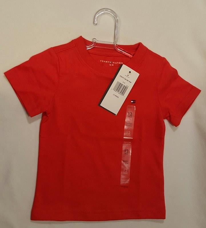 4afc58efe6 camiseta tommy hilfiger infantil bebê laranja 6-9m original. Carregando  zoom.