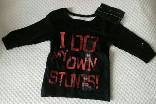 camiseta tommy hilfiger infantil manga longa