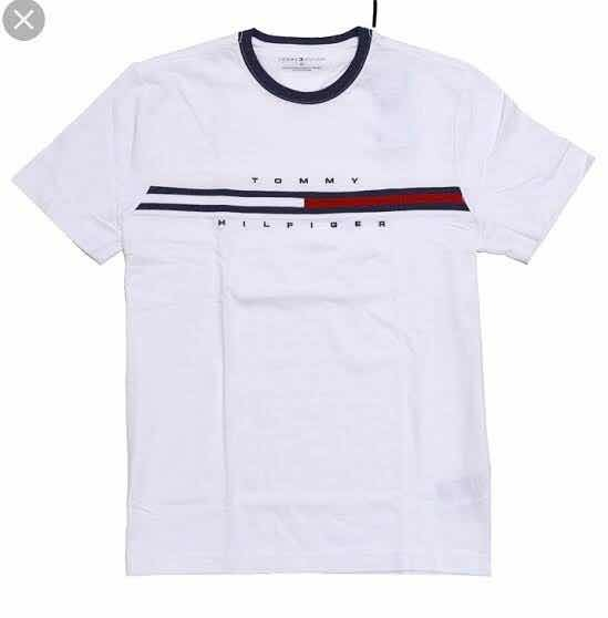 911e8c76736 Camiseta Tommy Hilfiger M Tino Ss Tee Branca Original - R  159