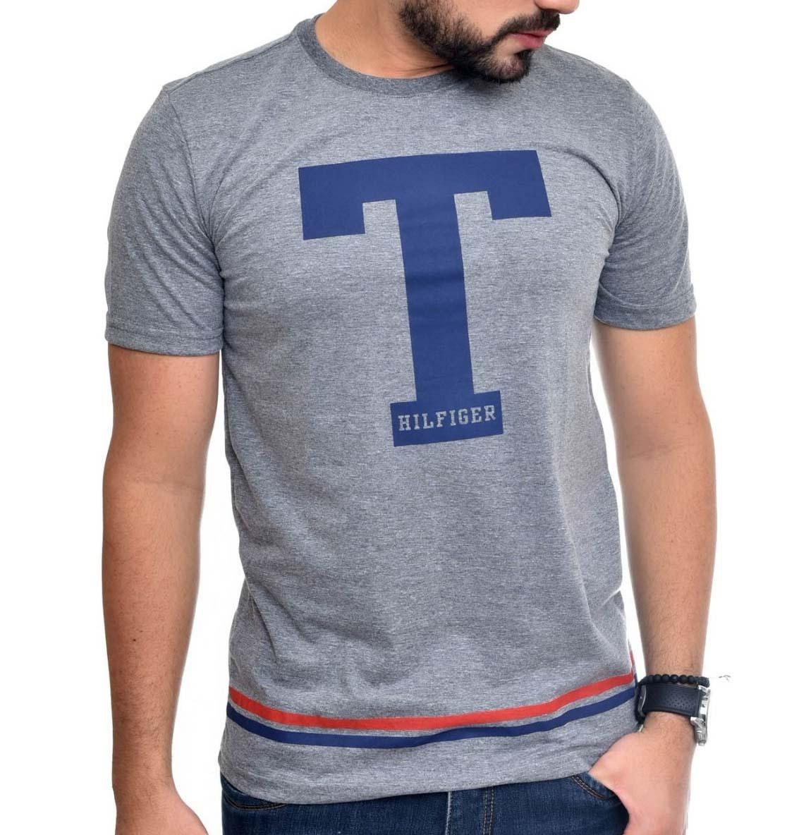 camiseta tommy hilfiger mescla escuro. Carregando zoom. ca57ac85ddded
